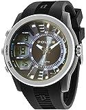 Police Men's Black Silicon Strap Watch