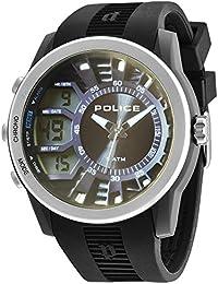 Police 14249JPBS/61 - Reloj de cuarzo , correa de silicona color negro