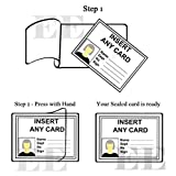 OfficeID Selbstklebend, Kalt Seal Laminieren Pouches., 100 + + + Verschiedene Größen Business Card Size - 66X98mm