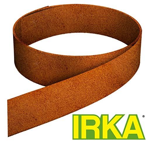 IRKA Rasenkantenband aus Corten Stahl 25 cm hoch Edelrost Mähkante Beeteinfassung Rasenkante 10 Meter