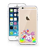 "licaso® iPhone 5S 5 SE 4"" TPU Einhorn Attacke Hülle Sketch Unicorn Case transparent klare Schutzhülle Disney Hülle iphone6 Tasche Cover Einhörner (iPhone 5 5S SE, Einhorn Attacke)"