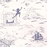 Michael Miller Pfirsichfarbenes Strickgewebe mit Peter Pan
