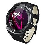 atFoliX Kunststoffglas Folie für LG G Watch R Glasfolie - FX-Hybrid-Glass elastische 9H Kunststoff Panzerglasfolie - Besser als Echtglas Panzerfolie