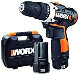 Worx WX128.3 Trapano avvitatore senza fili con 2 batterie 12 V 2,0Ah, Li-Ion