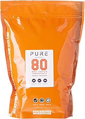 Bodybuilding Warehouse Pure Whey Protein Concentrate 80 Powder 1kg by Bodybuilding Warehouse