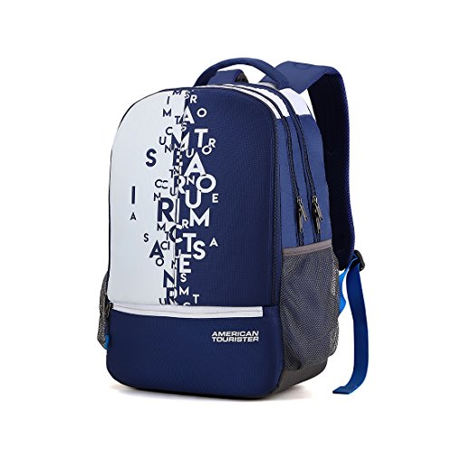 207a0063b0bc73 60% OFF on American Tourister 32 Ltrs Blue Casual Backpack (AMT Fizz SCH Bag  02 - Blue) on Amazon | PaisaWapas.com