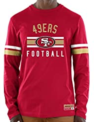 "San Francisco 49ers Majestic NFL ""Full Strike"" Men's Long Sleeve Crew shirt Chemise"