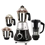 Sunmeet 750 Watts Plastic Mixer Grinder with 4 Jar (Grey Colour)