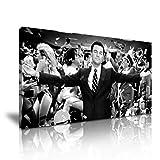 Wolf Of Wall Street Leonardo DiCaprio Film-Kunstdruck Leinwand Bild 82cm x 41cm