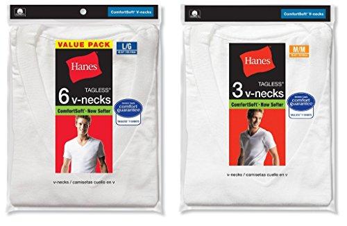 Shirt mit V-Ausschnitt (Bonuspaket), mit kurzen Ärmeln, taglos, für Herren Gr. XX-Large, weiß ()