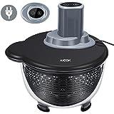 Aicok Elektrische Salatschleuder mit Zwei Modi und Ersetzbarem Deckel, Tritan Material, Anti-Extrusion, 4 Liter, Schwarz