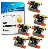 12 Tintenpatronen kompatibel zu Canon BCI-15/16 für Pixma IP90 i70 i80 Selphy DS700 DS810 MINI220 - Schwarz/Color, hohe Kapazität