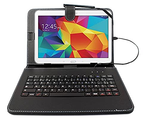 Etui noir + clavier intégré AZERTY pour Samsung Galaxy Tab