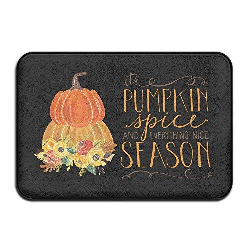 Rurug Blume Pumpkin Spice mit rutschfestem Fußabtreter Tür-Matte für outerdoor Badezimmer, 23,6x 15,7Zoll