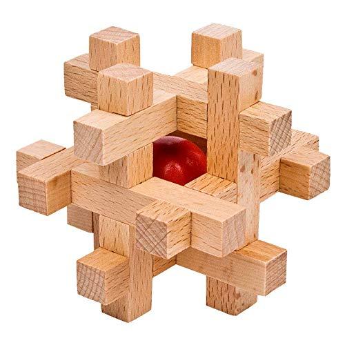 zhouye Rubik's Cube Ming Lock Luban Lock Set Nine Series of Difficult Full Set of Plum Blossom Heart-Shaped Luban Lock A Single Mystery Box Ming Blossom