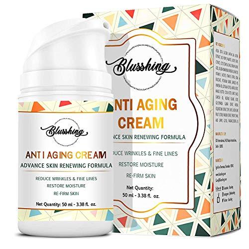 BLUSSHING Advance Anti Aging Night and Day Cream with Retinol, Vitamin C, E, Saffron and Hyaluronic Acid (50 ml)