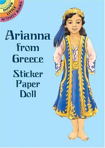 Arianna from Greece Sticker Paper D por Natalie Carabetta