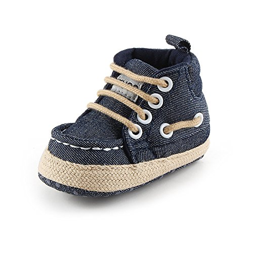 Fire Frog  Baby Indoor Shoes, Baby Jungen Lauflernschuhe Blau