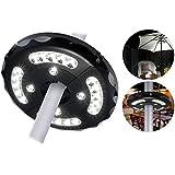 Itian Sombrilla de Luz LED - Auricular de 24 Luces de la Pantalla, Paraguas Poste Ligero, para los Paraguas del Patio, el Uso del Jardín al Aire Libre o Tiendas de Campaña (Negro)
