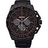 Seiko Mens Prospex, Black IP, Solar Chronograph SSC277P9