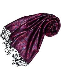 9bd07aa49a1 LORENZO CANA Pashmina pour la femme - écharpe de 100% soie avec les mesures  de 35 x 160 cm - fait à la main –…