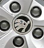 4Nabenkappen mit Logo Skoda, 56mm, schützen vor Staub, 5ja601151a VRS Sport, für viele Modelle