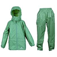 DRY KIDS Waterproof Suit - Comprising of Waterproof Packaway Jacket and Waterproof Over Trousers