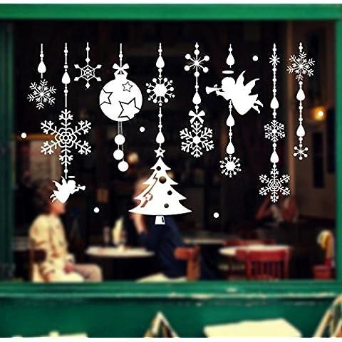 Tongshi Navidad Navidad Angel decoración sala de estar dormitorio Windows pegatinas de pared