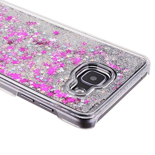 Samsung Galaxy A5 Custodia, Samsung Galaxy A5 2016 PC Back Cover in Plastica Trasparente 3D Glitter Scintillanti Stelle Quick and Mode Liquido Rigido Bling Della Stella Caso Transparent Sottile Anti S Bianca