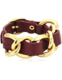 Mike Ellis New York Damen Armband Edelstahl Leder DME-02_5