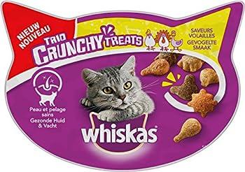 Whiskas Trio Crunchy Treats Friandise Saveur Volailles pour Chat 8 x 55 g