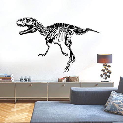 Cczxfcc Schwarze Dinosaurier Fossil Silhouette Kunst Wandaufkleber Labor Jungen Zimmer Kinder Schlafzimmer Dekoration Kinder Abziehbilder