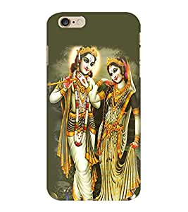 ColourCraft Lord Radha Krishan Design Back Case Cover for APPLE IPHONE 6 PLUS