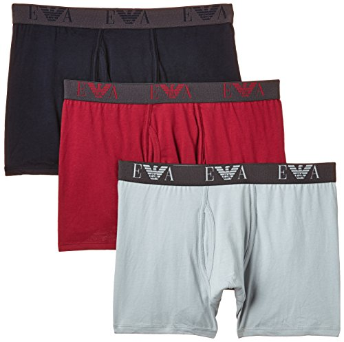 a4d1fe419b Emporio Armani Intimates Men's 3-Pack Boxer Shorts, Ruby/Ice/Marine,