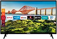 Telefunken XH24J501V 24 Zoll Fernseher (Smart TV inkl. Prime Video / Netflix / YouTube, HD ready, 12 Volt, Wor
