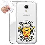 Hülle für Samsung Galaxy S4 Mini - Minions Handyhülle mit Motiv und Optimalen Schutz TPU Silikon Tasche Case Cover Schutzhülle - No Pants No Problem