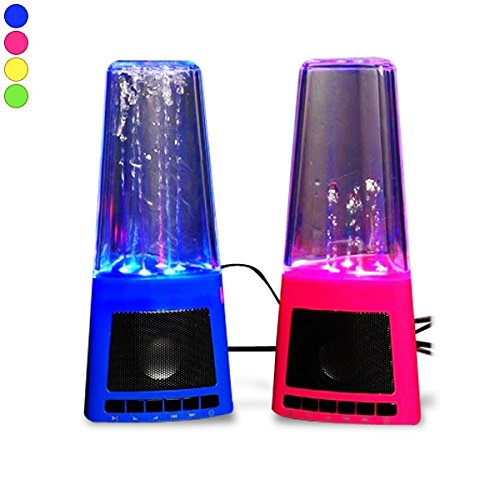 Lautsprecher LED und Wasserbrunnen schwanger Schwarz
