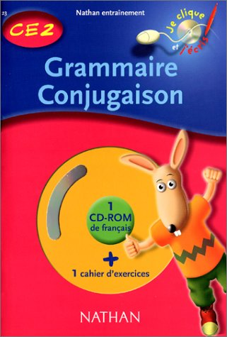 Grammaire conjugaison CE2, cahier d'exercices (1 CD-Rom inclus) par Collectif