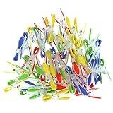 Set de 72 Pinzas de Plástico para Ropa por Kurtzy - Pinzas Extra Fuertes con Suave Agarre para Colgar Ropa en Tendederos y Percheros - Pinzas para Tender Colada Rojas, Azules, Amarillas y Verdes