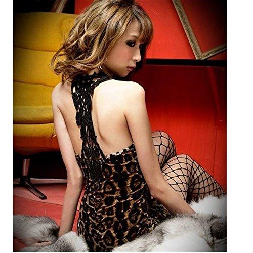 Evtech (TM) Donna Pizzo Sexy Nightclub Partito di Sera per pacchetto Hip Mini Bodycon vestito senza spalline, Leopard, taglia unica