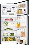 LG 547 L 3 Star Frost-Free Double-Door Refrigerator (GN-C702SGGU, Black Glass, Inverter Linear Compressor)