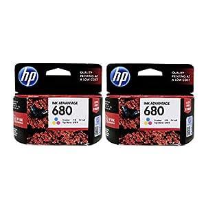 HP 680 Tri-color Original Ink Advantage Cartridge Pack of 2