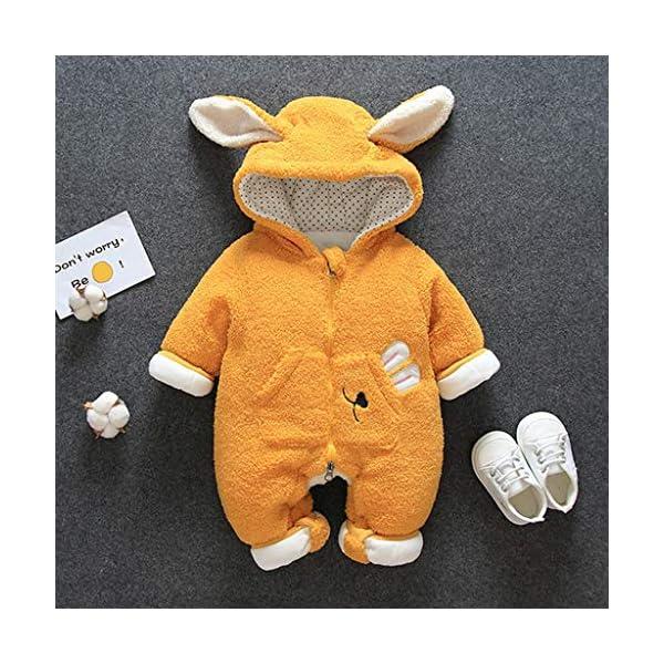 Felpa Conejo Encapuchado Mono recién Nacido Invierno Moda Niñito Bebé Niños niñas Calentar Mameluco Mono Encantador… 3
