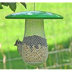 El Mejor Alimentador de Aves Silvestres para Decorar tu Casa o Jardín, Diseñado para todo tipo de Semillas, Cacahuetes y Frutas Secas, es Perfecto para pajaros pequeños y medianos. Ideal como Regalo