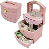 Feibrand Faux Leather Jewellery Box Pink