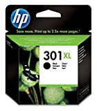 HP 301XL - Cartucho de tinta Original HP 301 XL de álta capacidad Negro para HP DeskJet, HP OfficeJet y HP ENVY