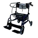 #9: KosmoCare Stryder II Folding Rollator walker with footrest - Blue