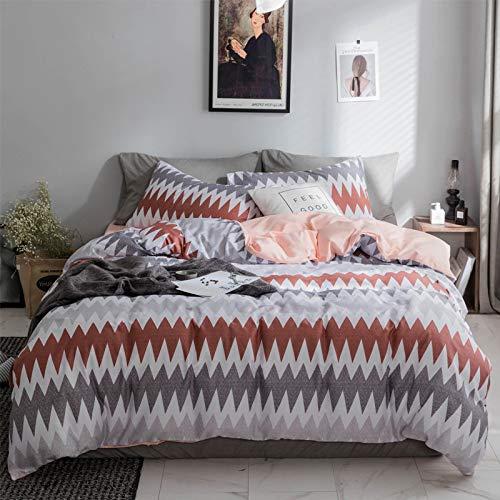 Bfmbch strisce ondulate da uomo in twill di cotone semplice in quattro pezzi lenzuolo con trapunta 4 pezzi lenzuolo e 200 cm * 230 cm