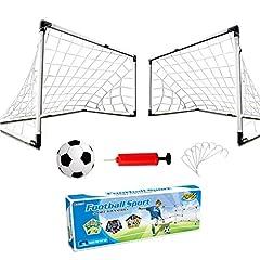 Idea Regalo - Dreamon Set di 2 Porte da Calcio per Bambini con Palla e Pompa Giocattolo Sportivo per Esterni Indoor