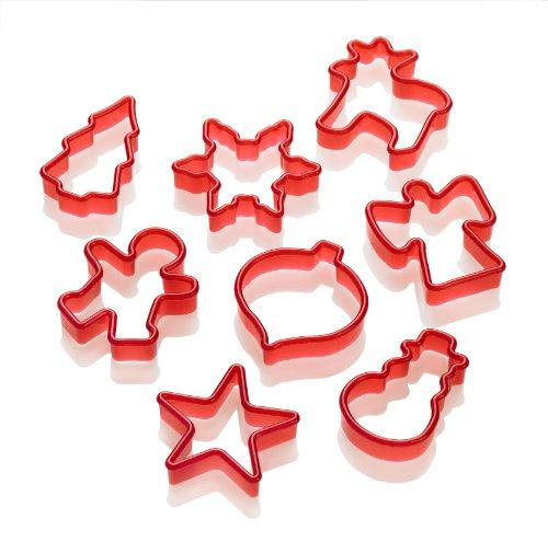 Lurch 10520 - Moldes para galletas (8 unidades), diseño de Navidad, color...